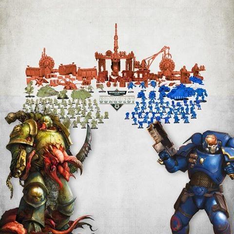 Contenido fascículos Warhammer Conquest
