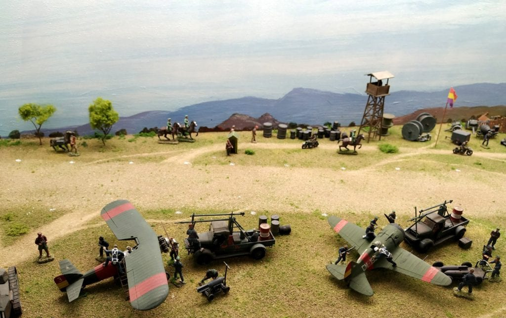 Miniaturas Jaca aviación republicana