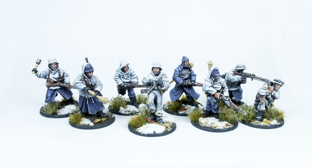 Escuadra de rifleros frontal