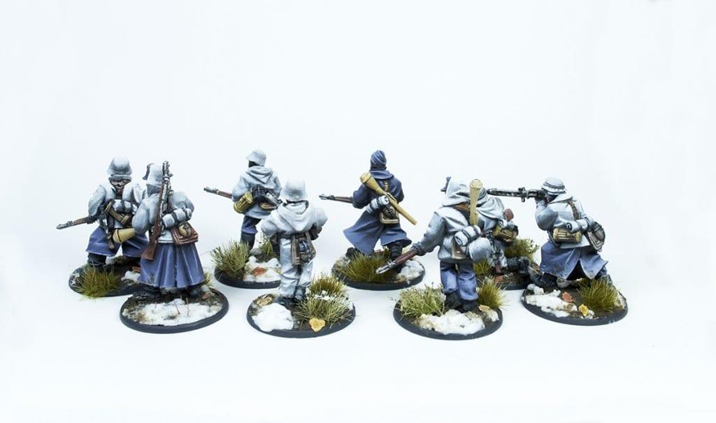 Escuadra de rifleros trasera