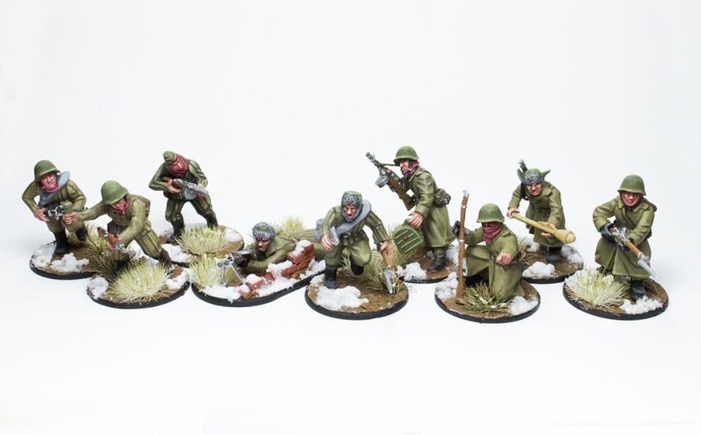 Escuadra de infantería veterana frontal