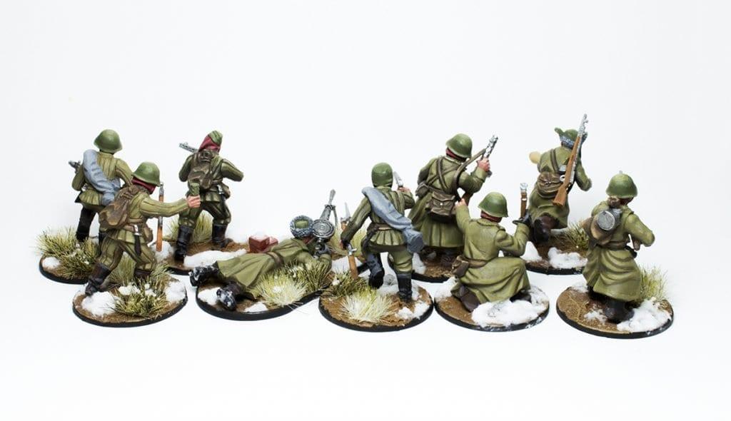 Escuadra de infantería veterana trasera