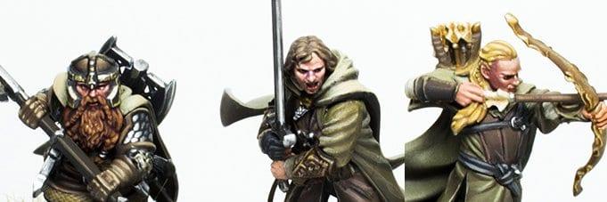 Aragorn Legolas y Gimli de los tres cazadores