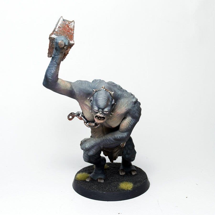 troll de las cavernas con peana de moria