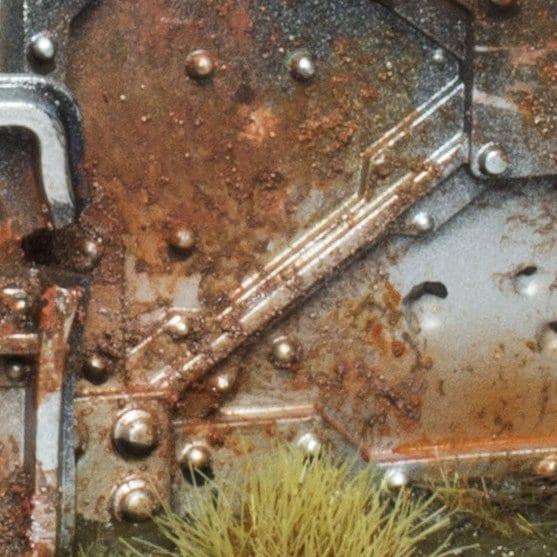 Efecto de corrosión y óxido en escenografía